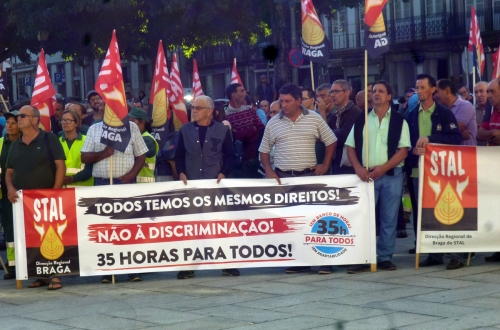 Braga. A luta dos trabalhadores do município